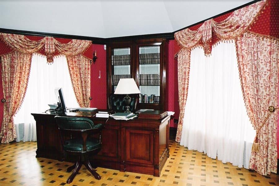 Дизайн штор в кабинет
