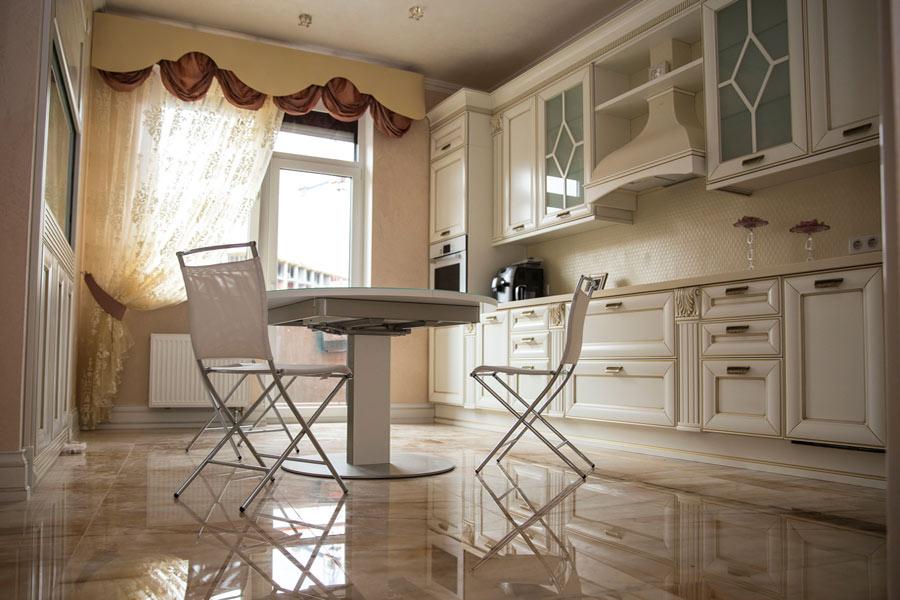 Кухня и столовая в дизайнах штор